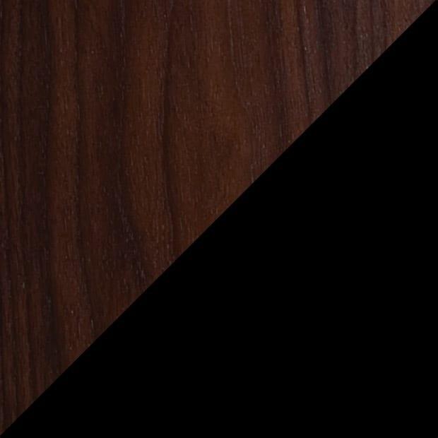 Chocolate Stained Walnut / Black