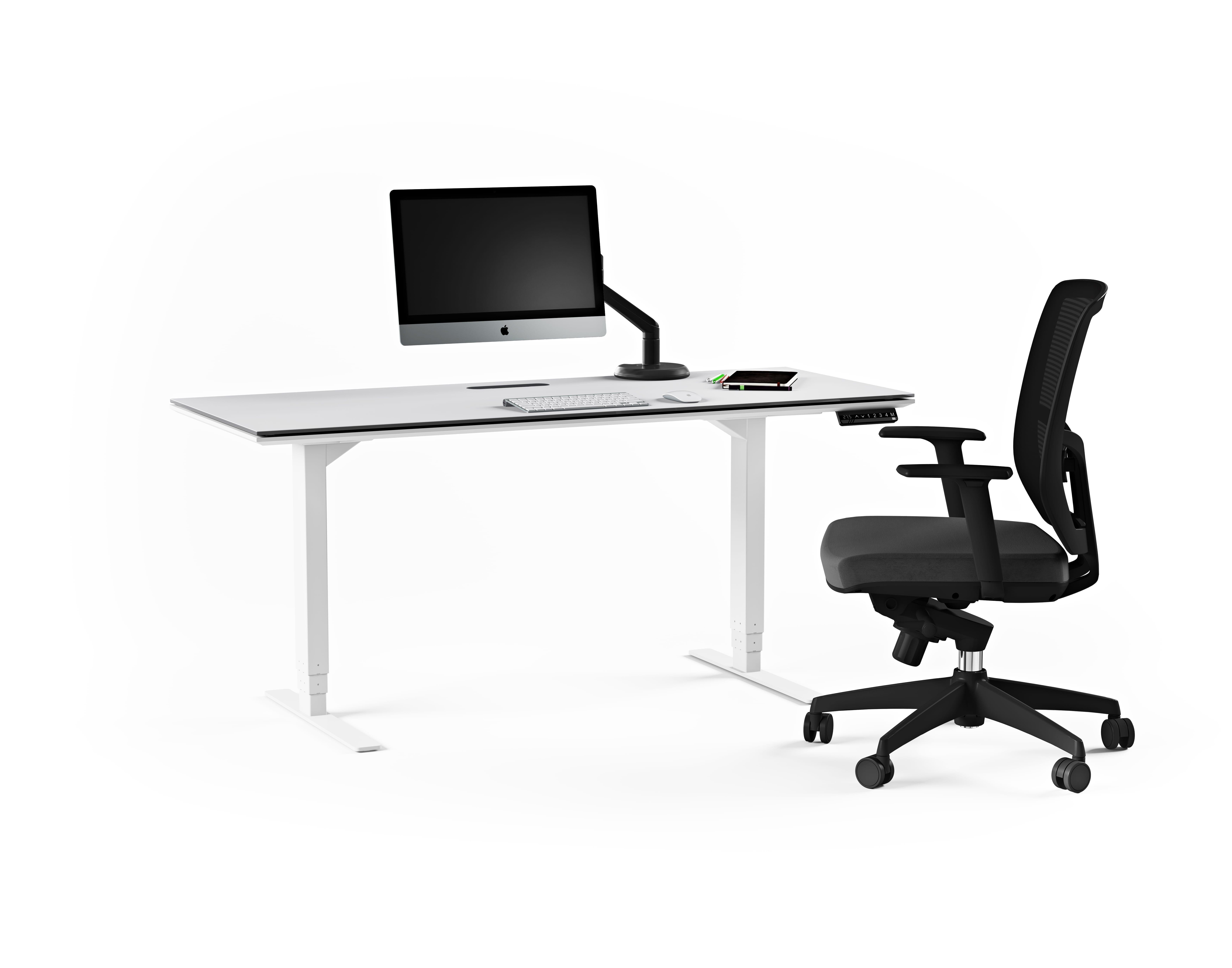 Centro 6452 Office Standing Desk White 4
