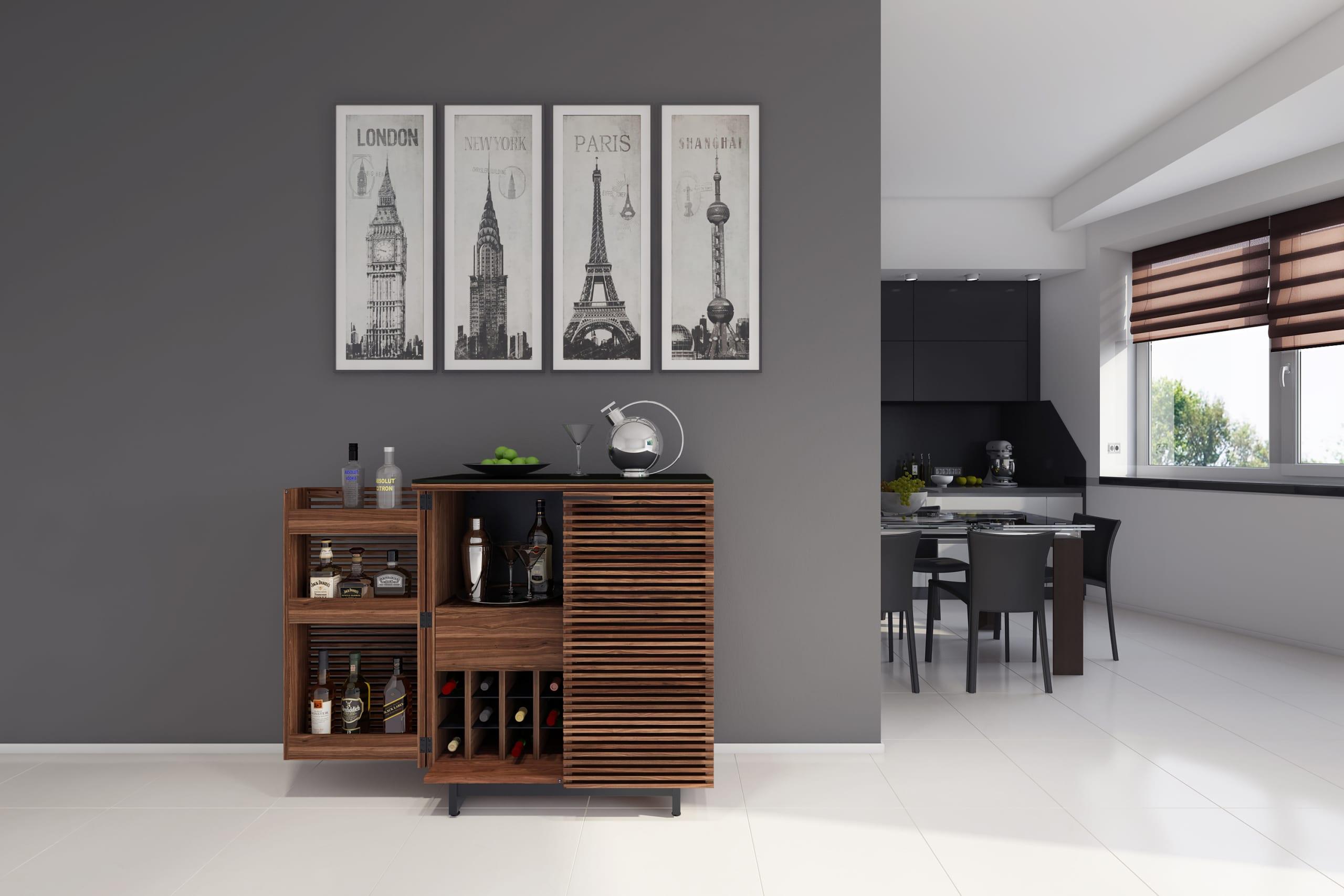 Corridor 5620 Home Bar WL Living