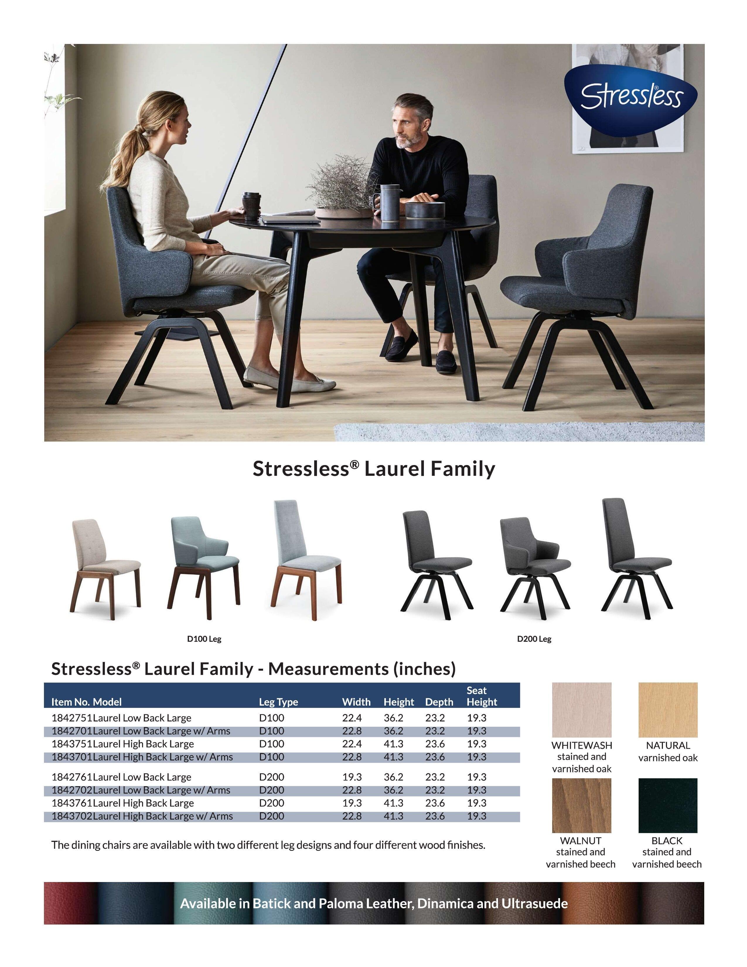Stressless Laurel Family Product Sheet