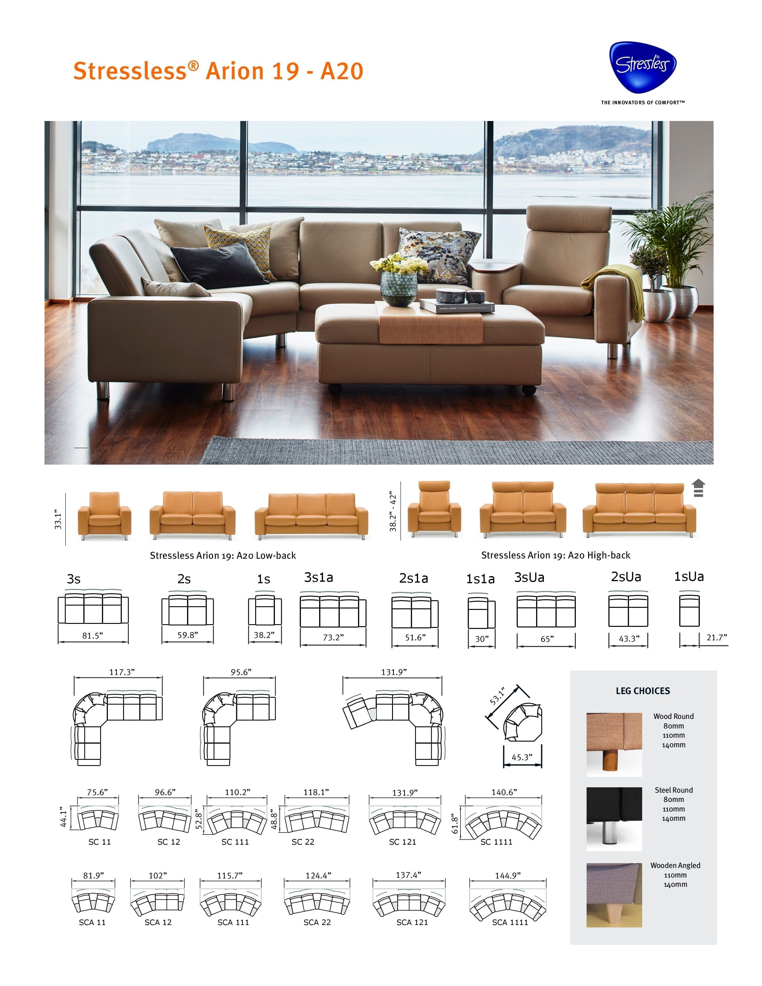 Arion 19 A20 Stressless Product Sheet