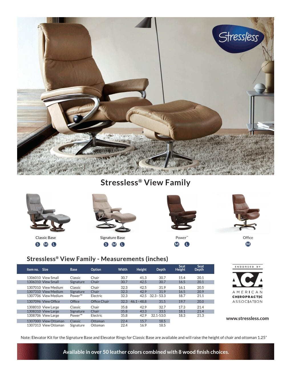 View Stressless Product Sheet