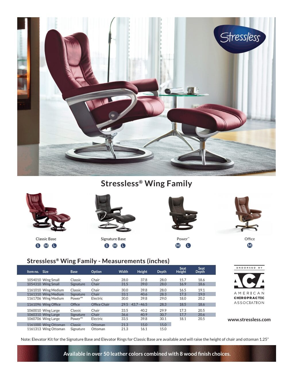 Wing Stressless Product Sheet