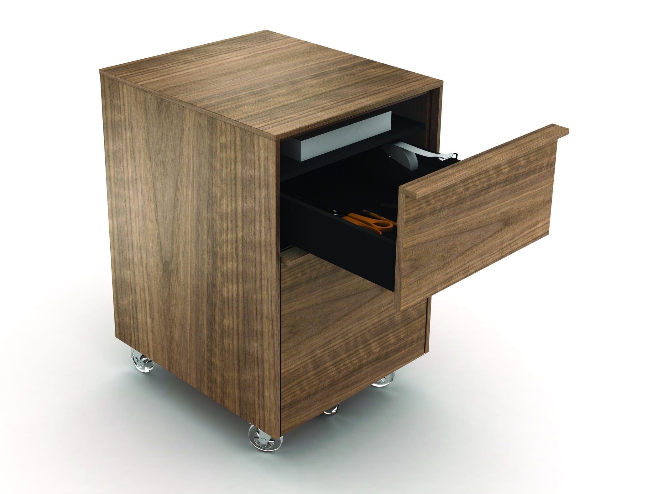 Cascadia 6207 Mobile Storage & File Pedestal | BDI Furniture Walnut