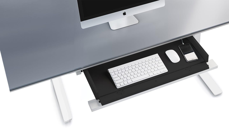Centro 6459-2 Standing Desk Drawer White 1