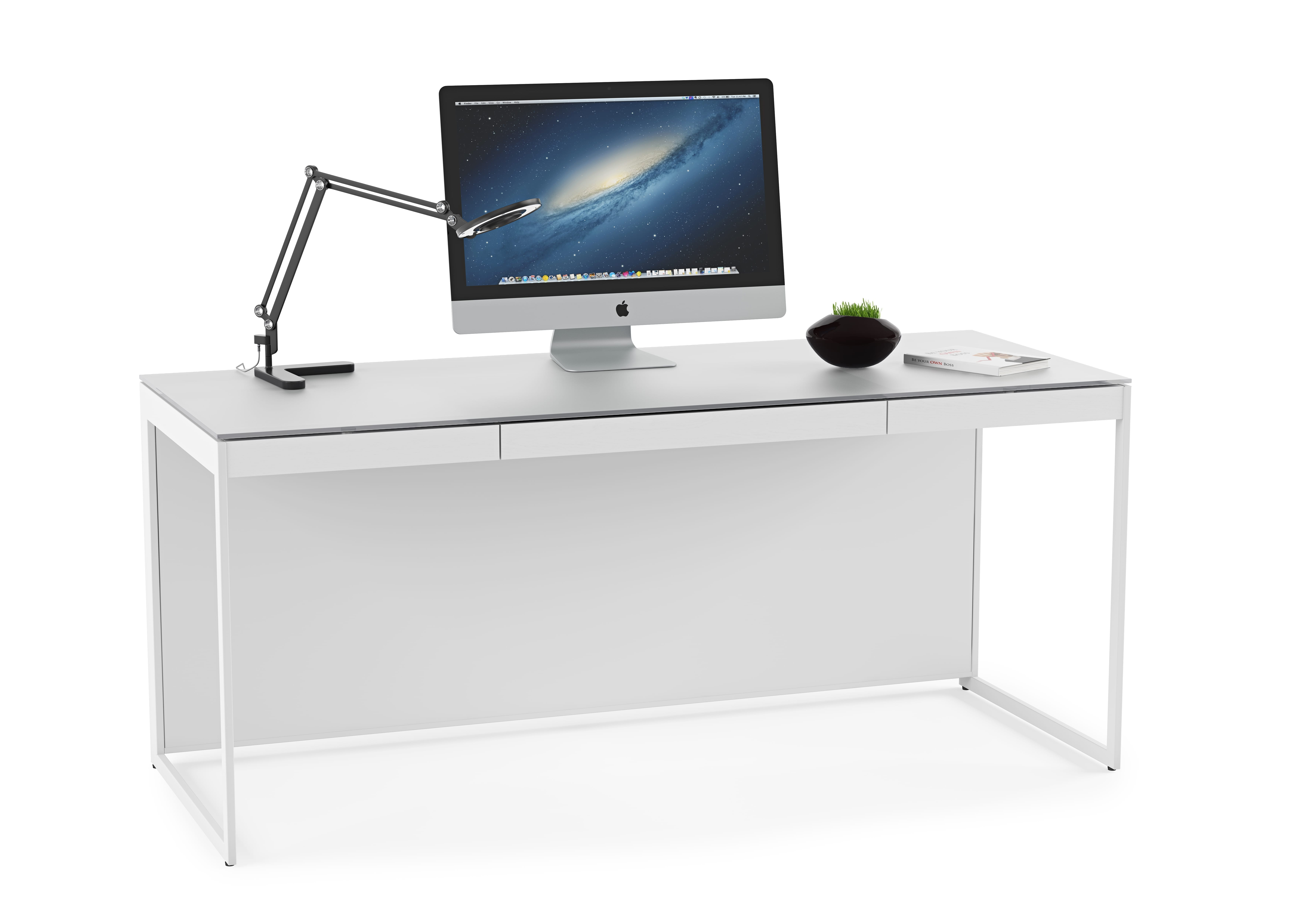 Centro Office Desk 6401 Satin White 2