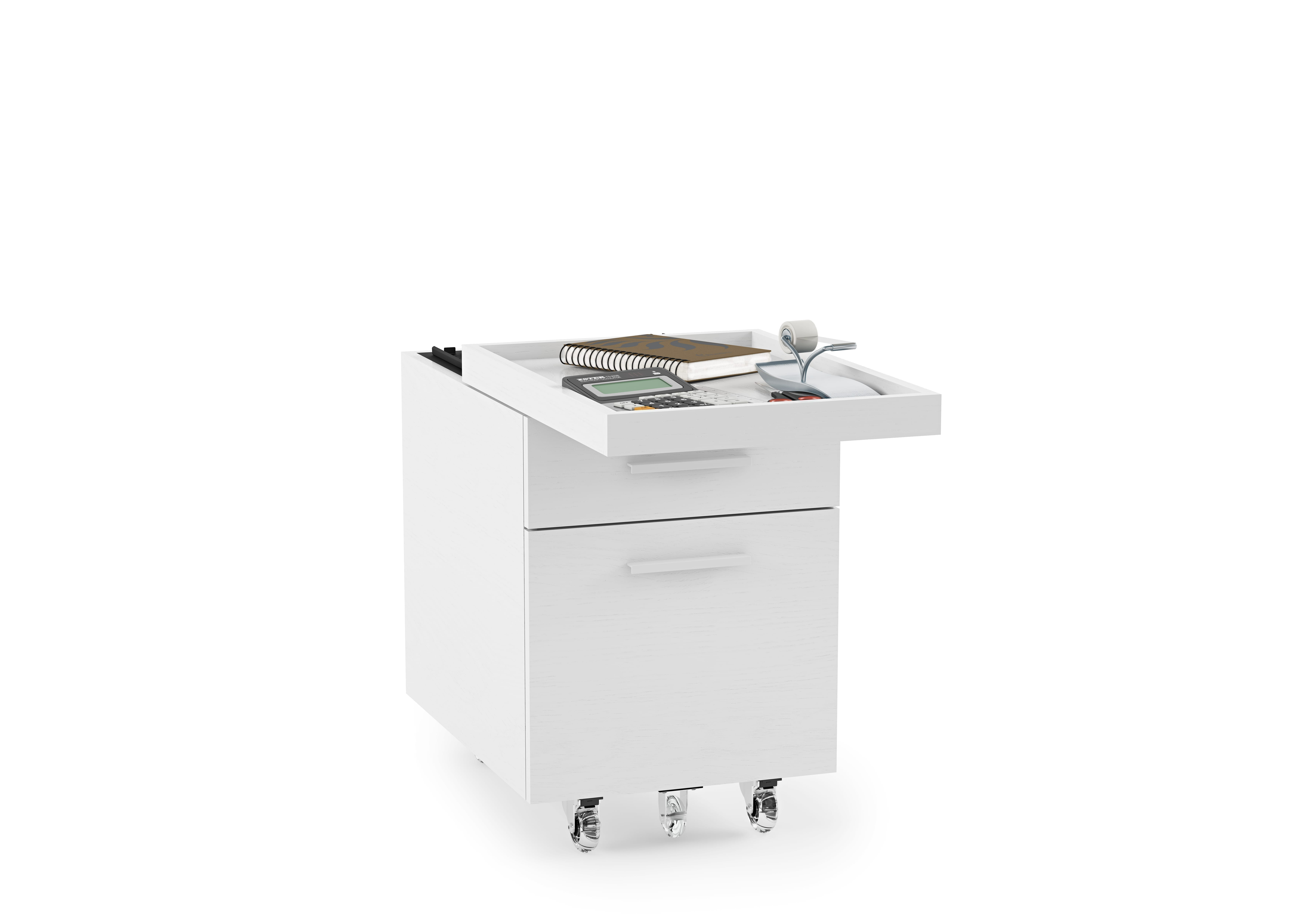 Centro Office File Cabinet 6401 White 1