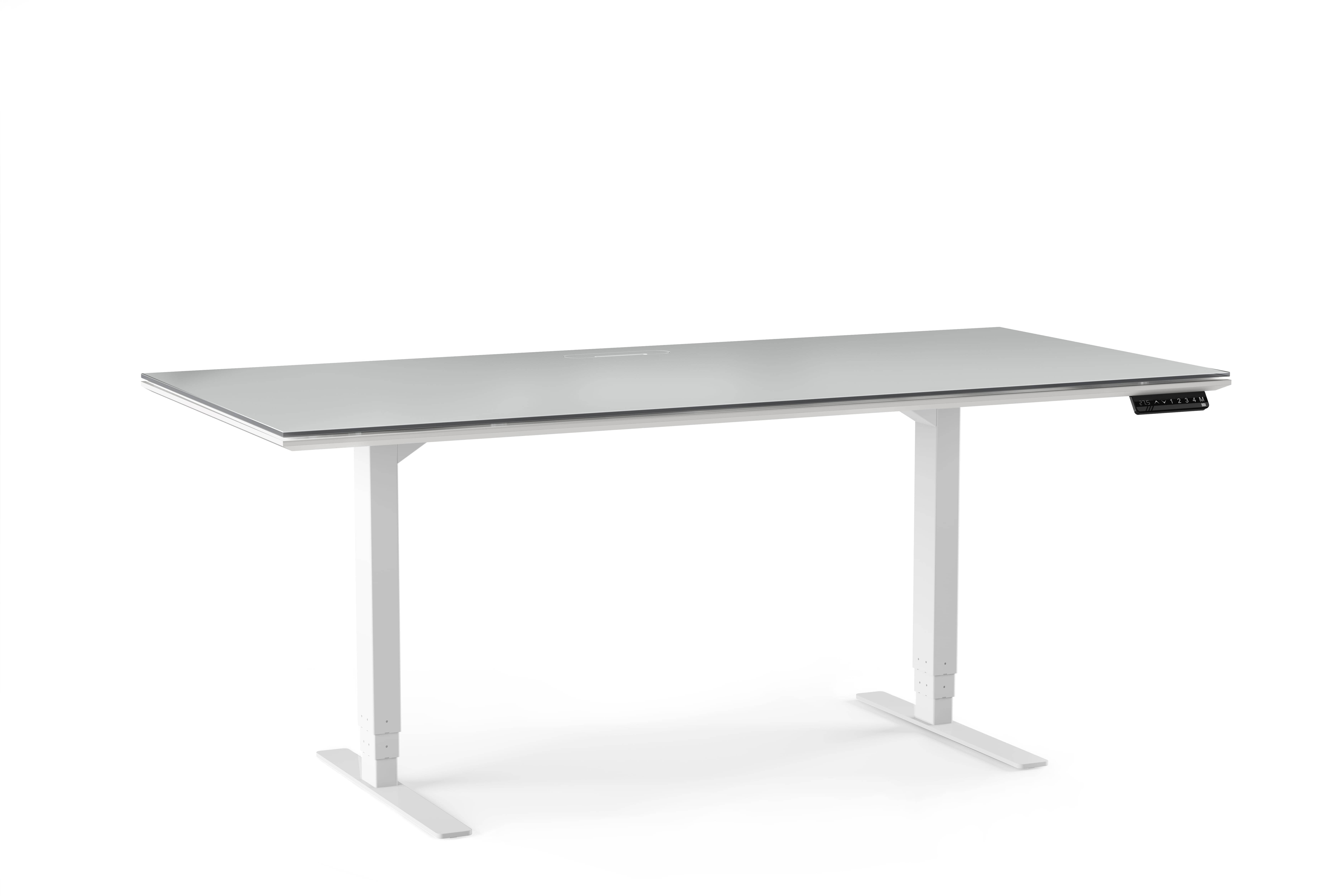 Centro 6452 Office Standing Desk White 1