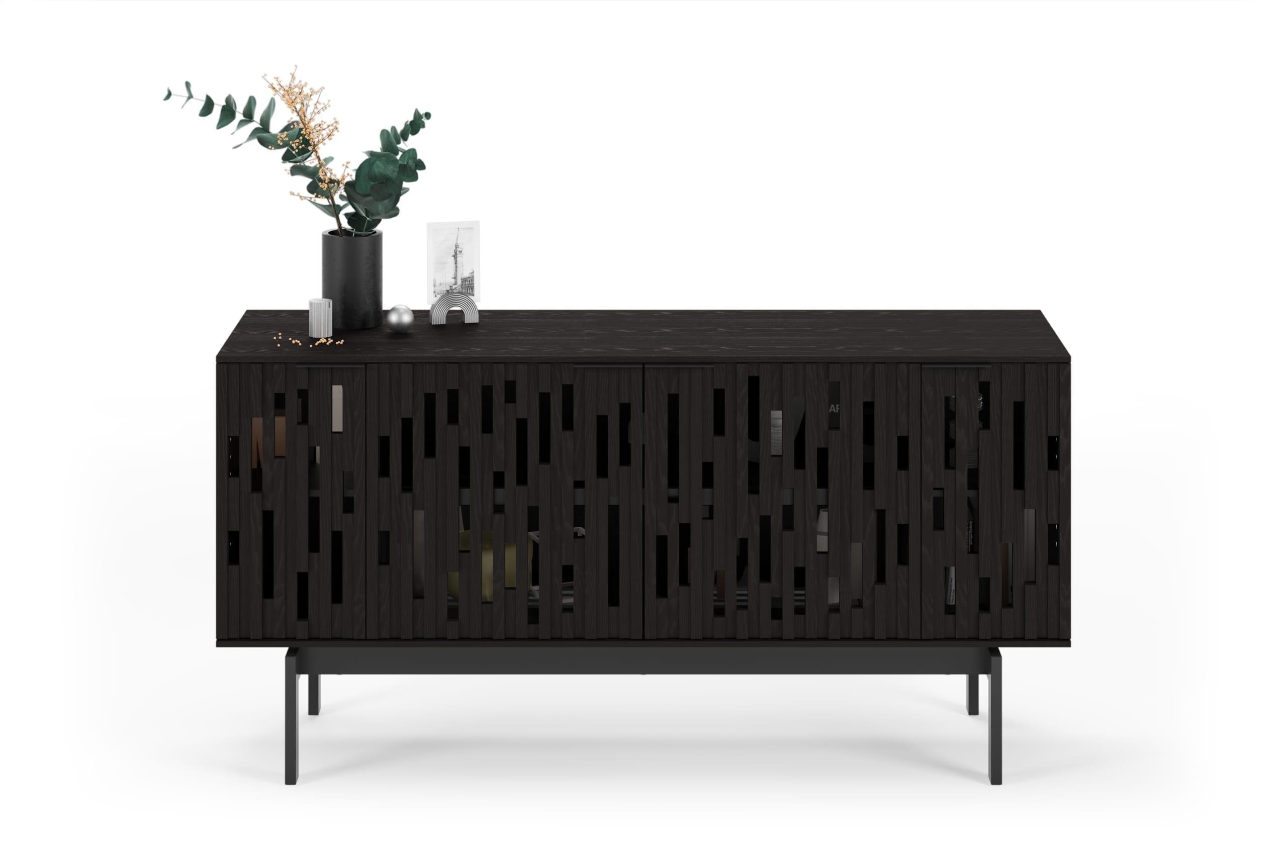 Code 7376 Media Cabinet & Storage Console | BDI Furniture Ebonized Ash 1