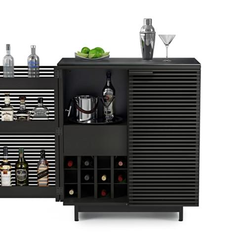 Home bar in charcoal BDI furniture