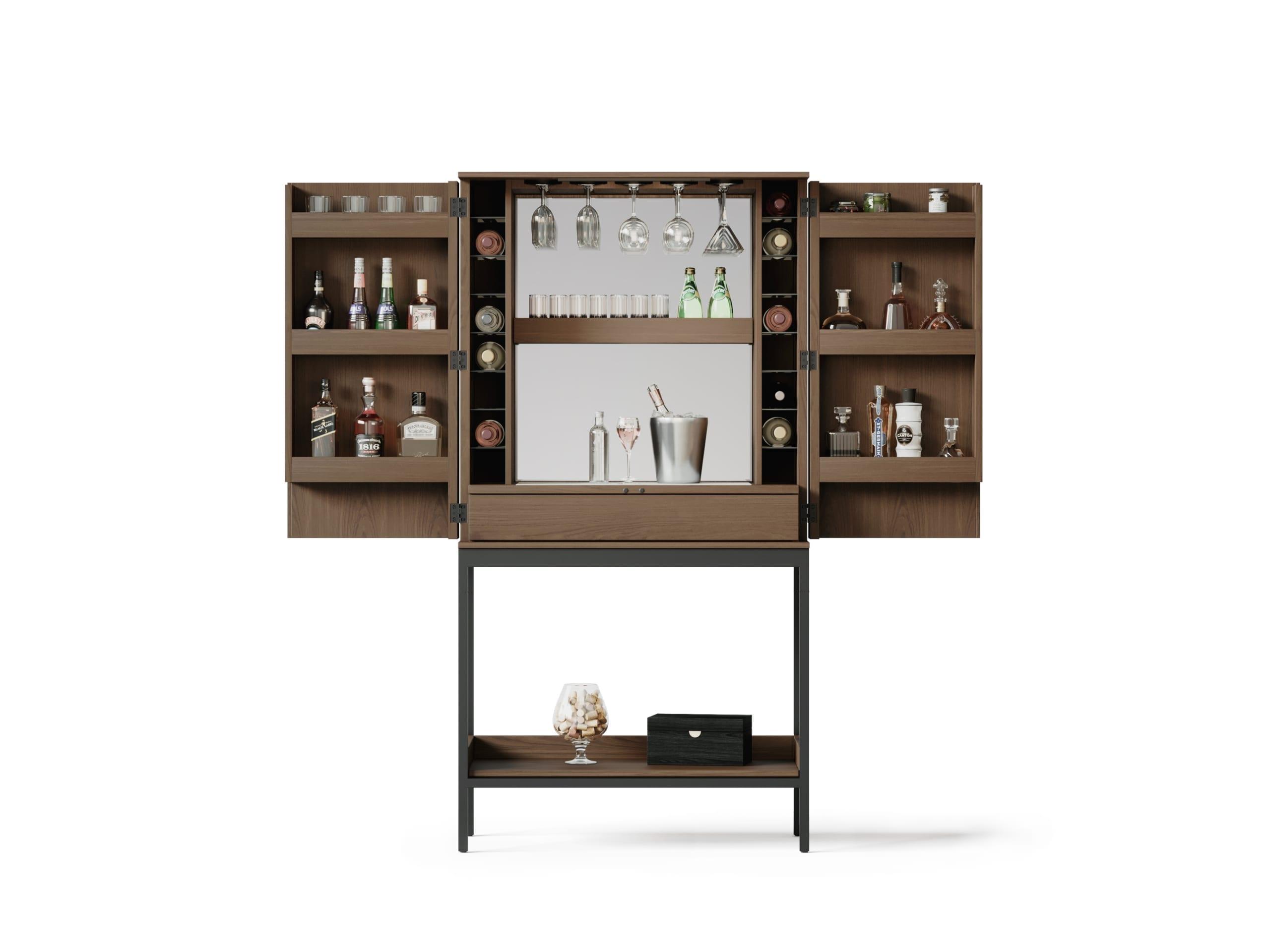 Cosmo 5720 Home Bar & Bar Cabinet | BDI Furniture Toast Walnut