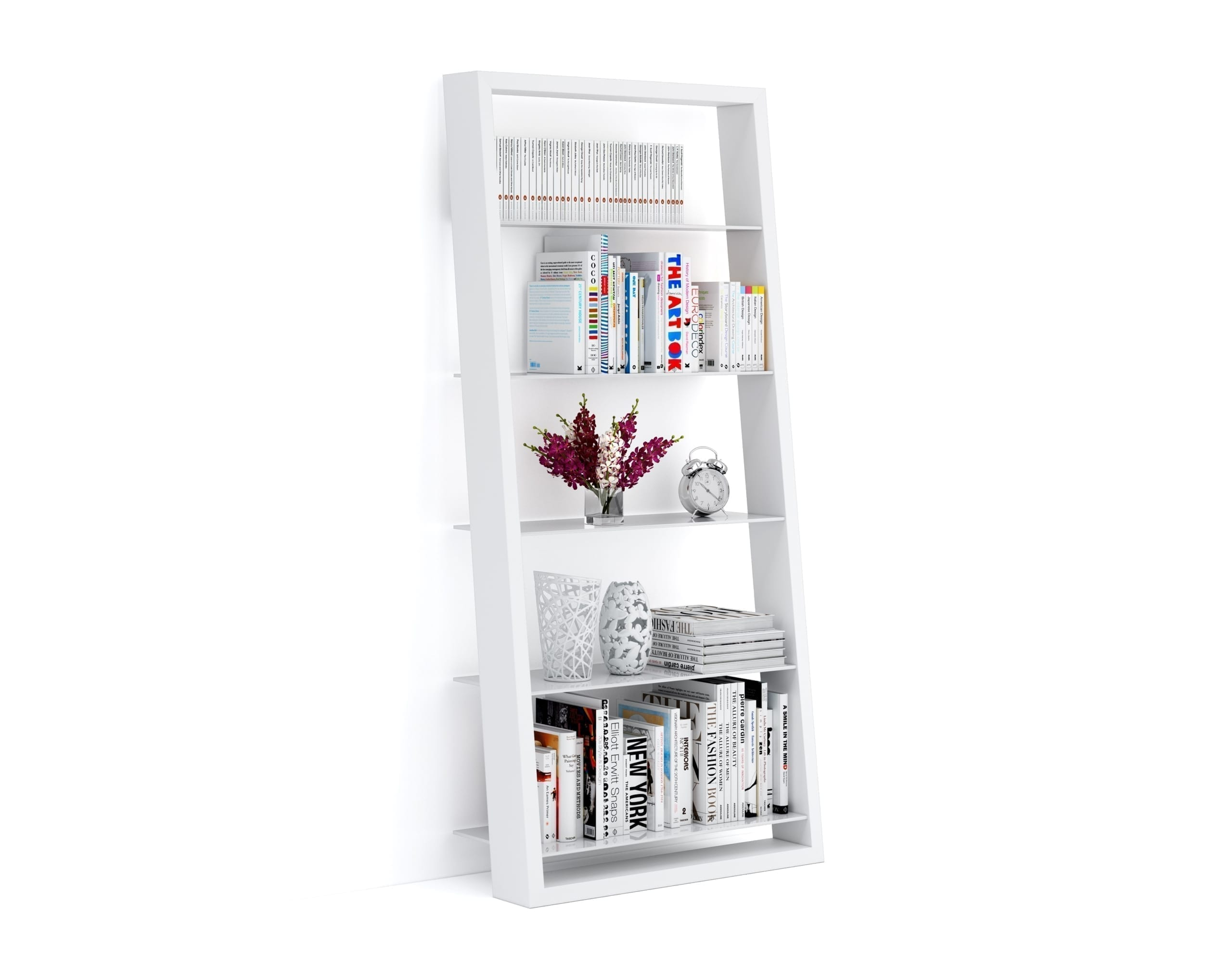 Eileen Blanc 5157 White Leaning Glass Shelf | BDI Furniture 4