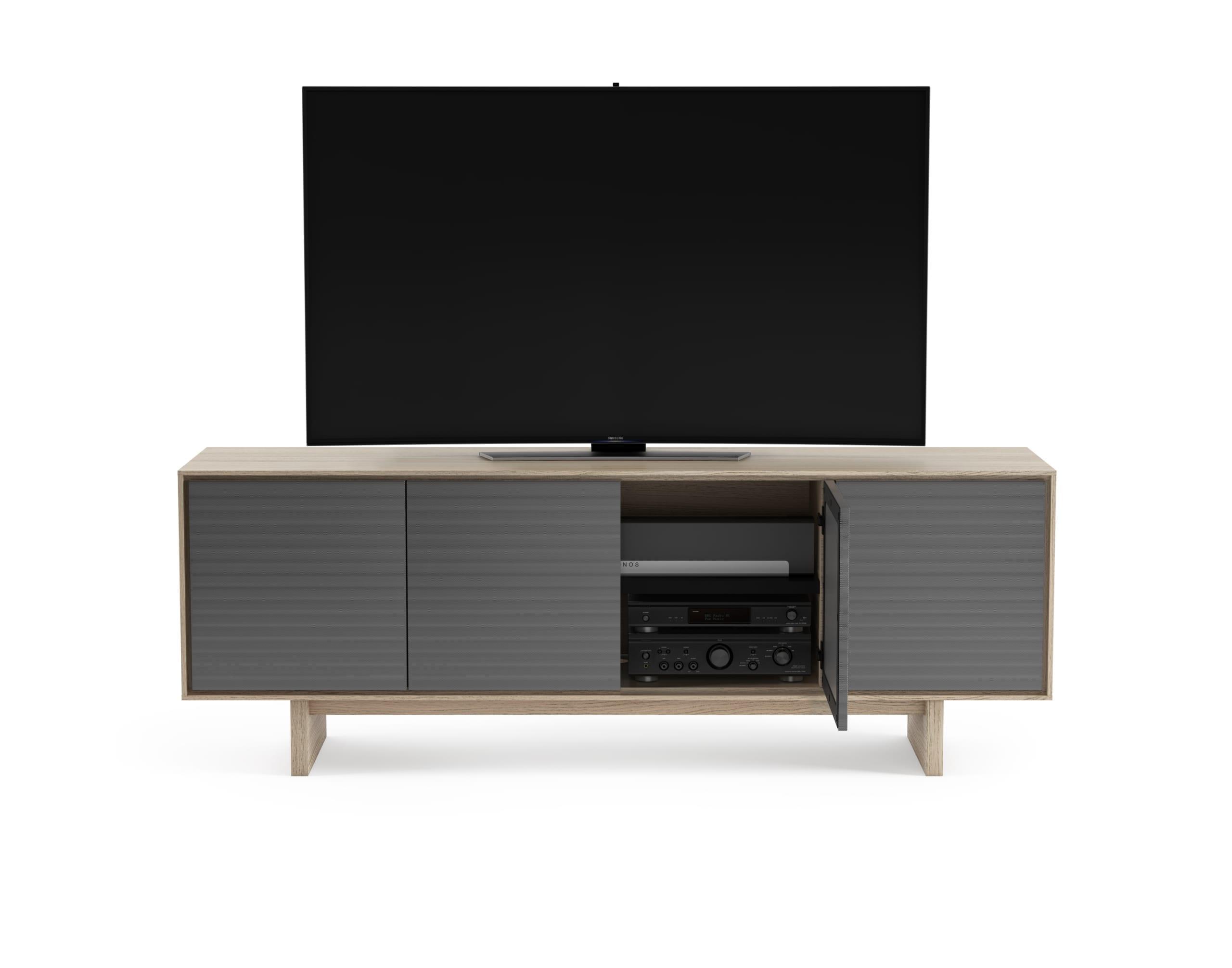 Octave Media Cabinet 8379 Drift Oak panel