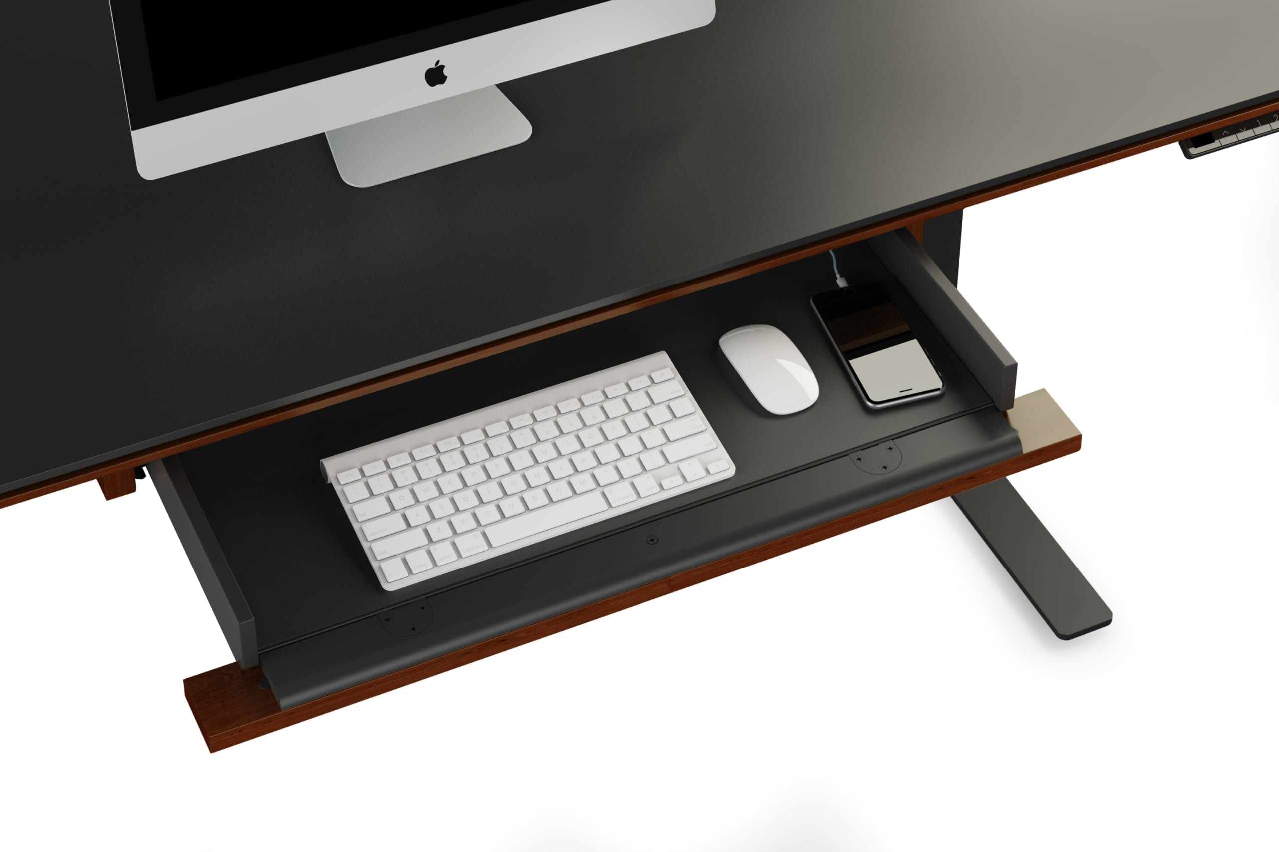 Sequel 6159 Keyboard/Storage Drawer Chocolate Walnut