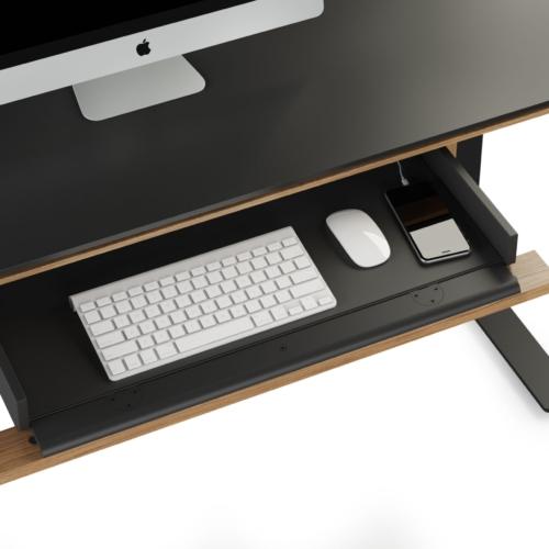 Sequel 6159 Keyboard/Storage Drawer Natural Walnut