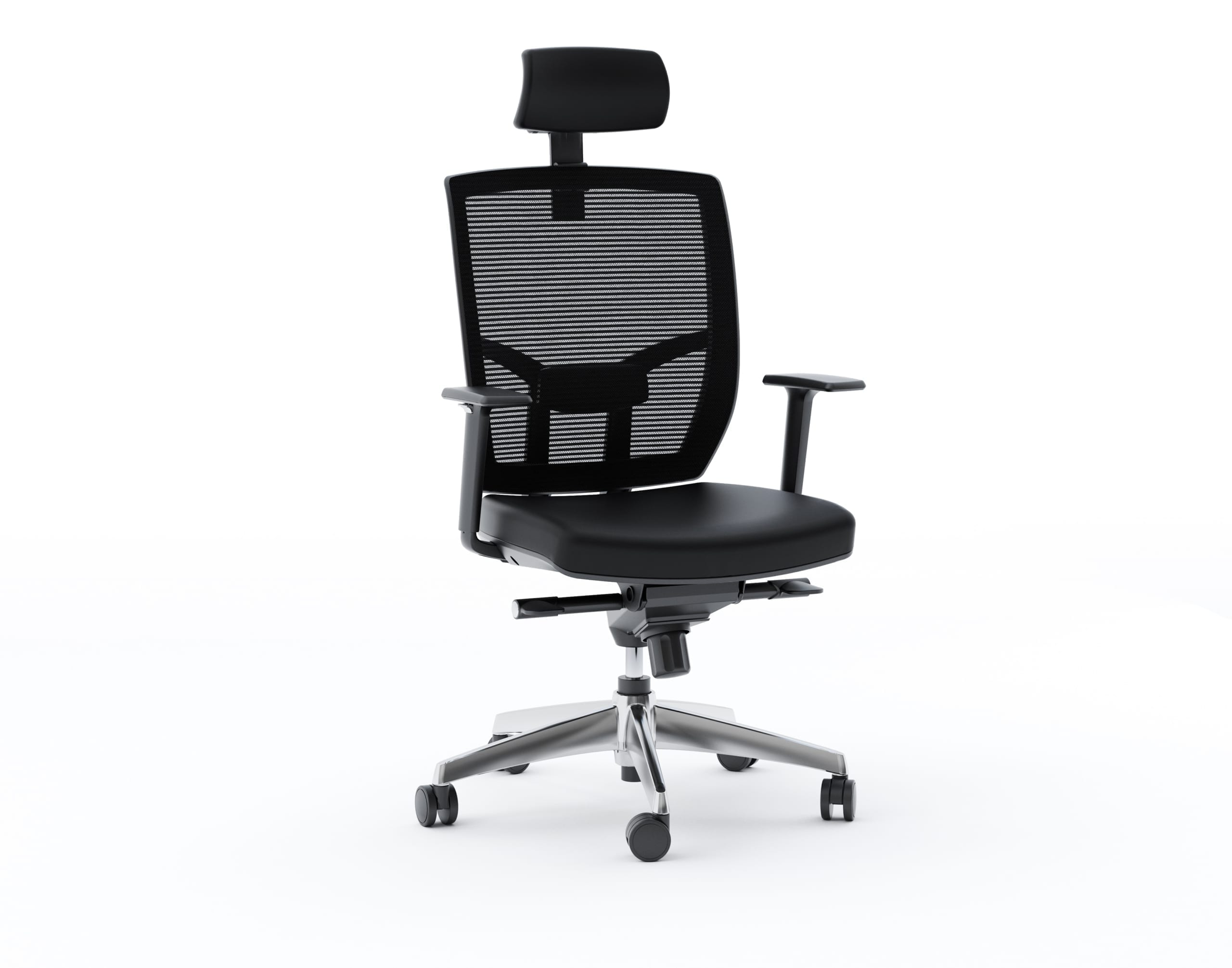 TC 223 DHL Leather Chair black leather side