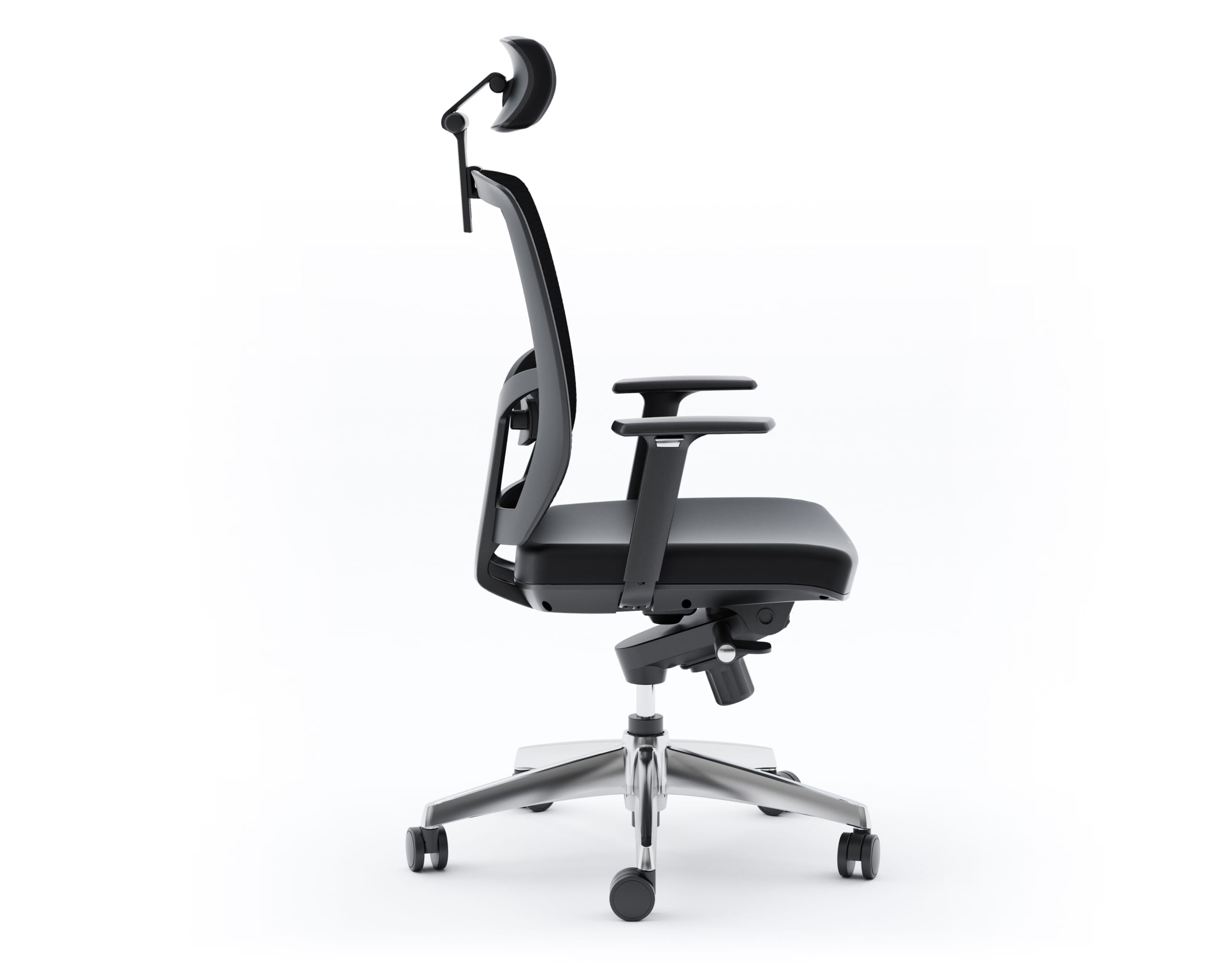 TC 223 DHL Leather Chair black leather profile
