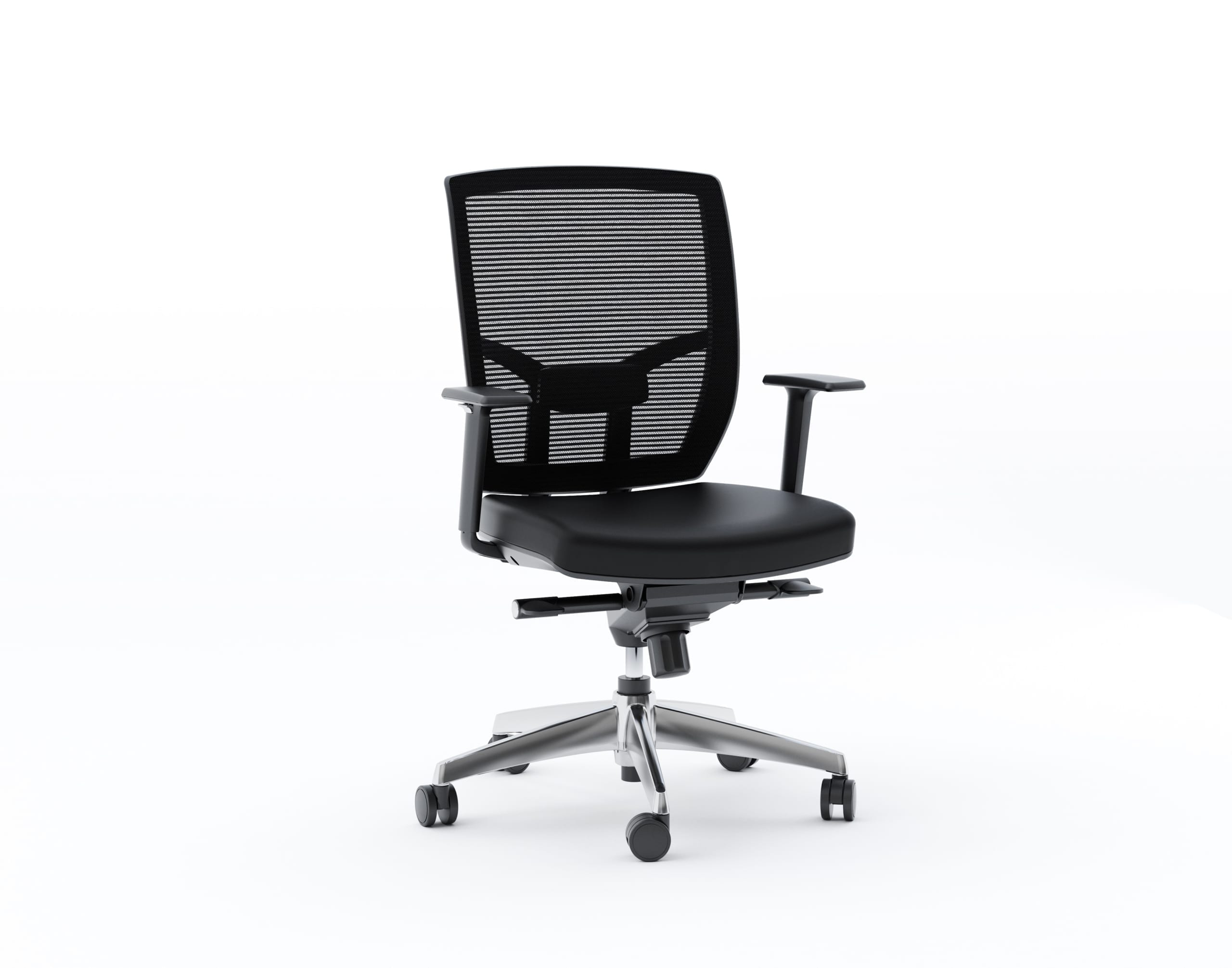 TC 223 DHL Leather Chair black side