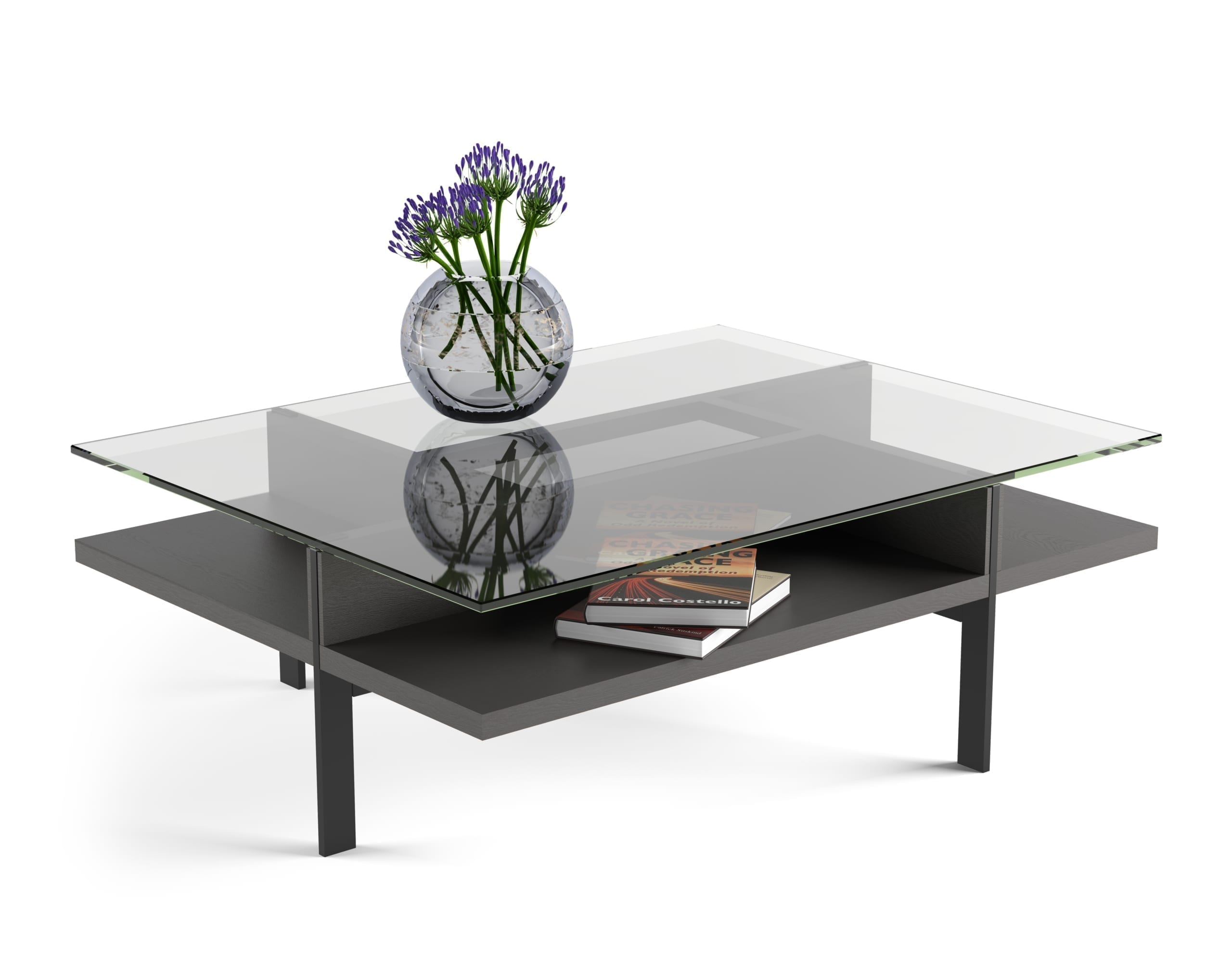 Terrace Rectangle Coffee Table 1152 Charcoal