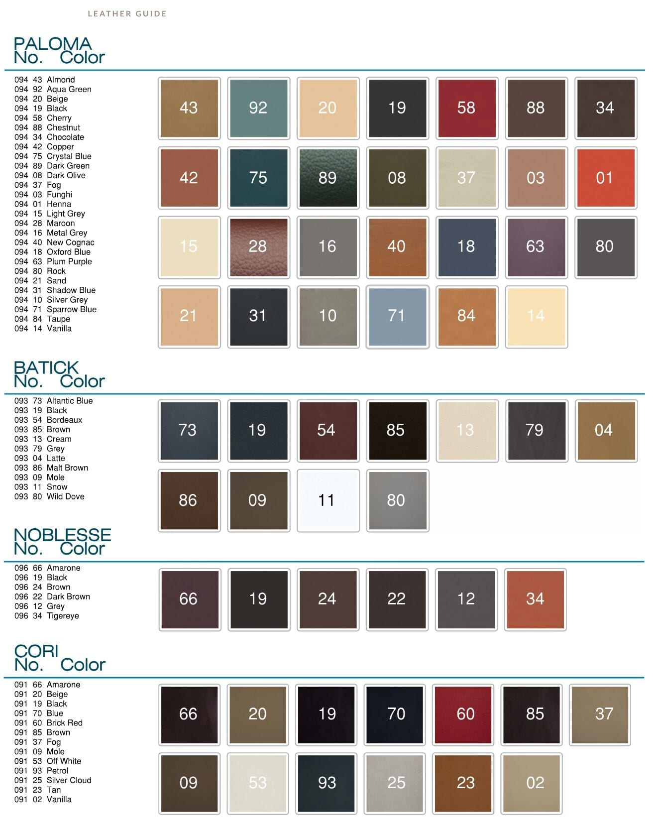 Stressless Color Option Swatch Chart Final